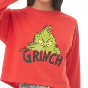 Forever 21 Grinch Collection Crop Top NWT Small